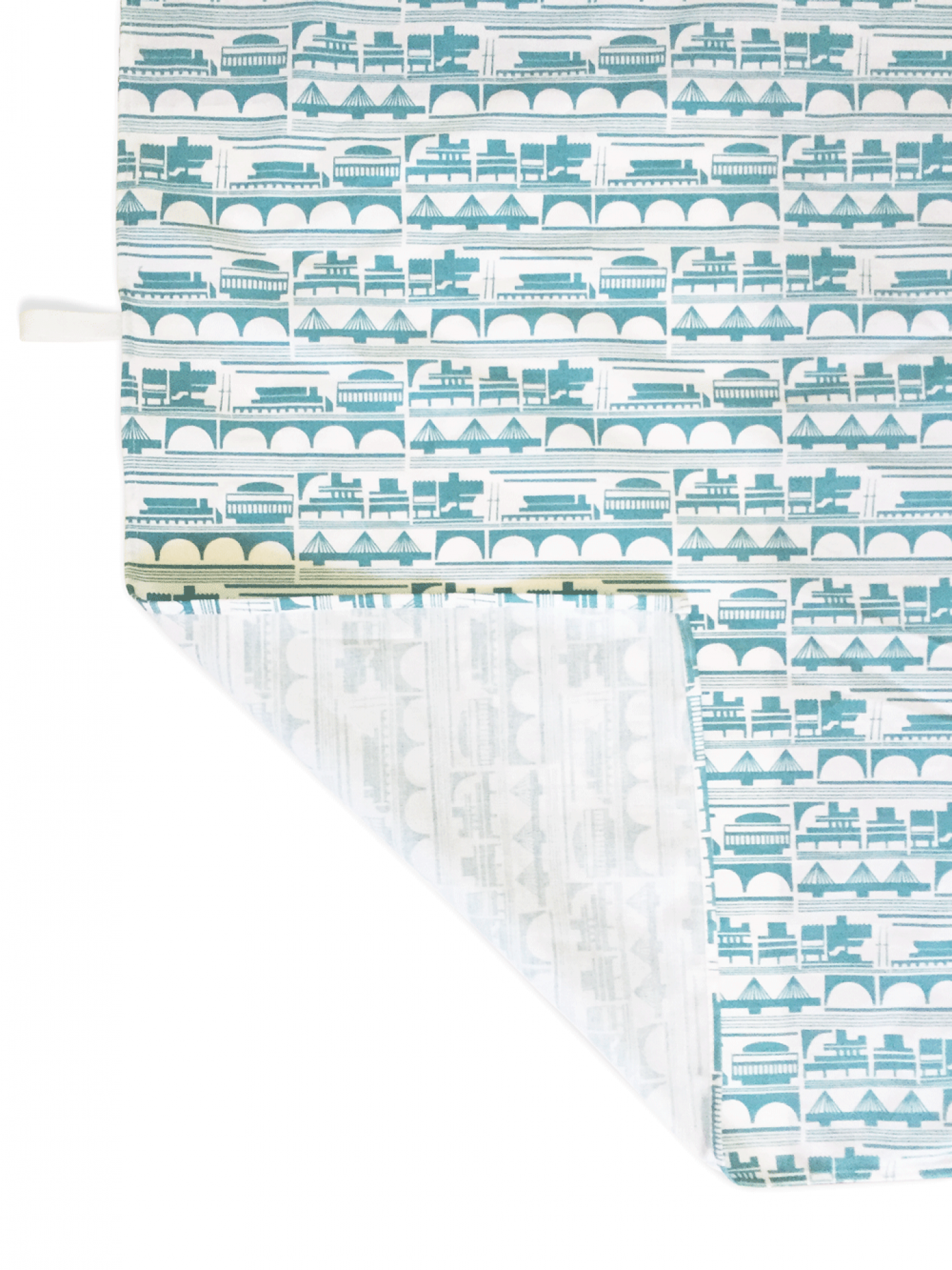 Place in Print South Bank London Tea Towel Blue