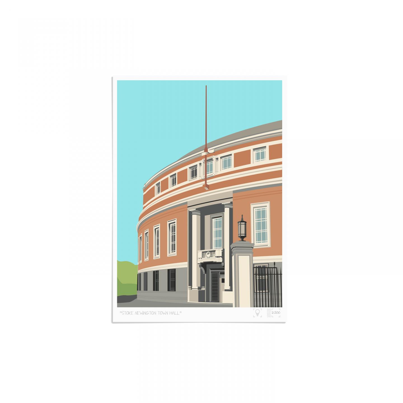 Place in Print Stoke Newington Town Hall Art Print Unframed