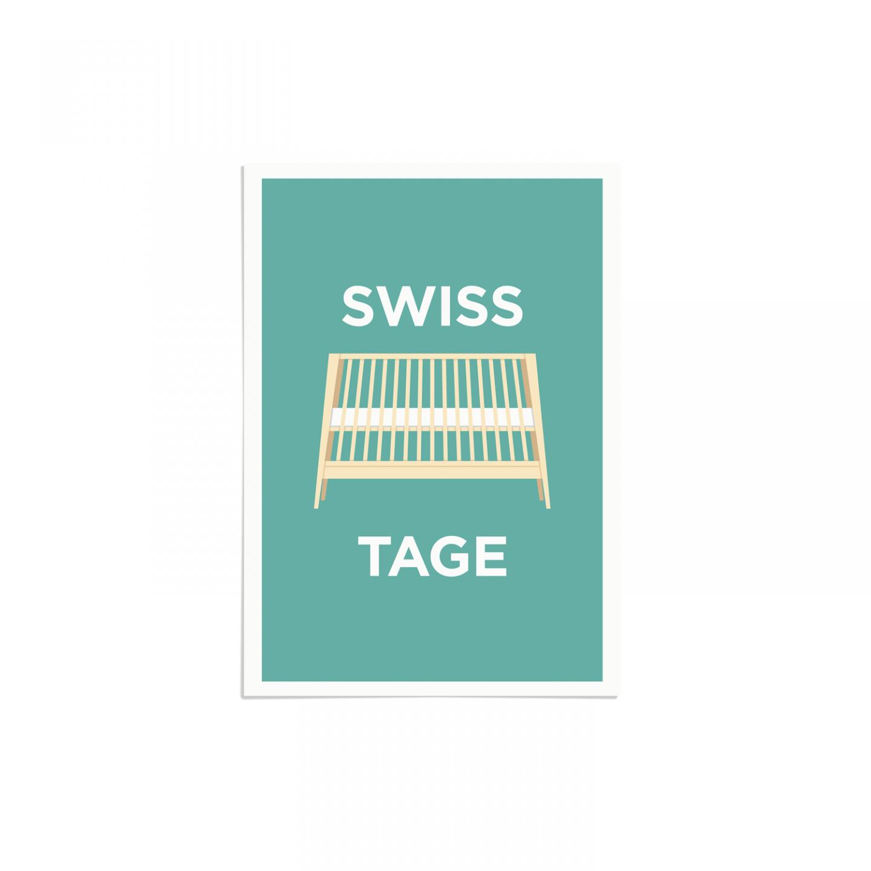 Place in Print Pate Swiss Cottage Neighbourhood Pun Art Print Unframed