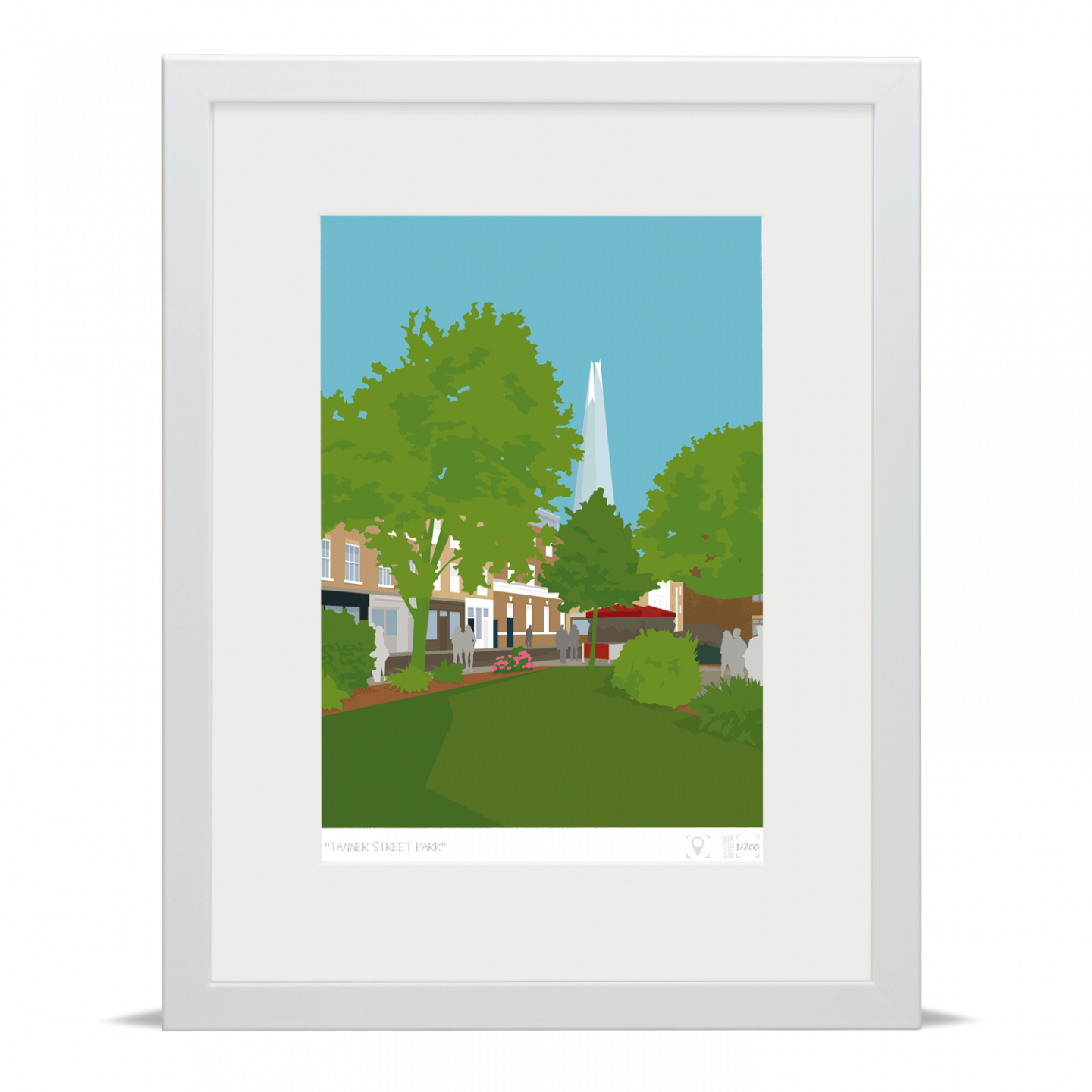 Place in Print Tanner Street Park Limited Edition Art Print White Frame