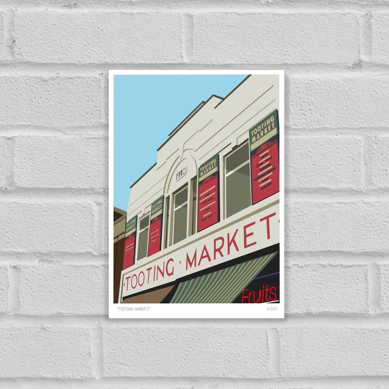 Tooting Market Art Poster Print Unframed
