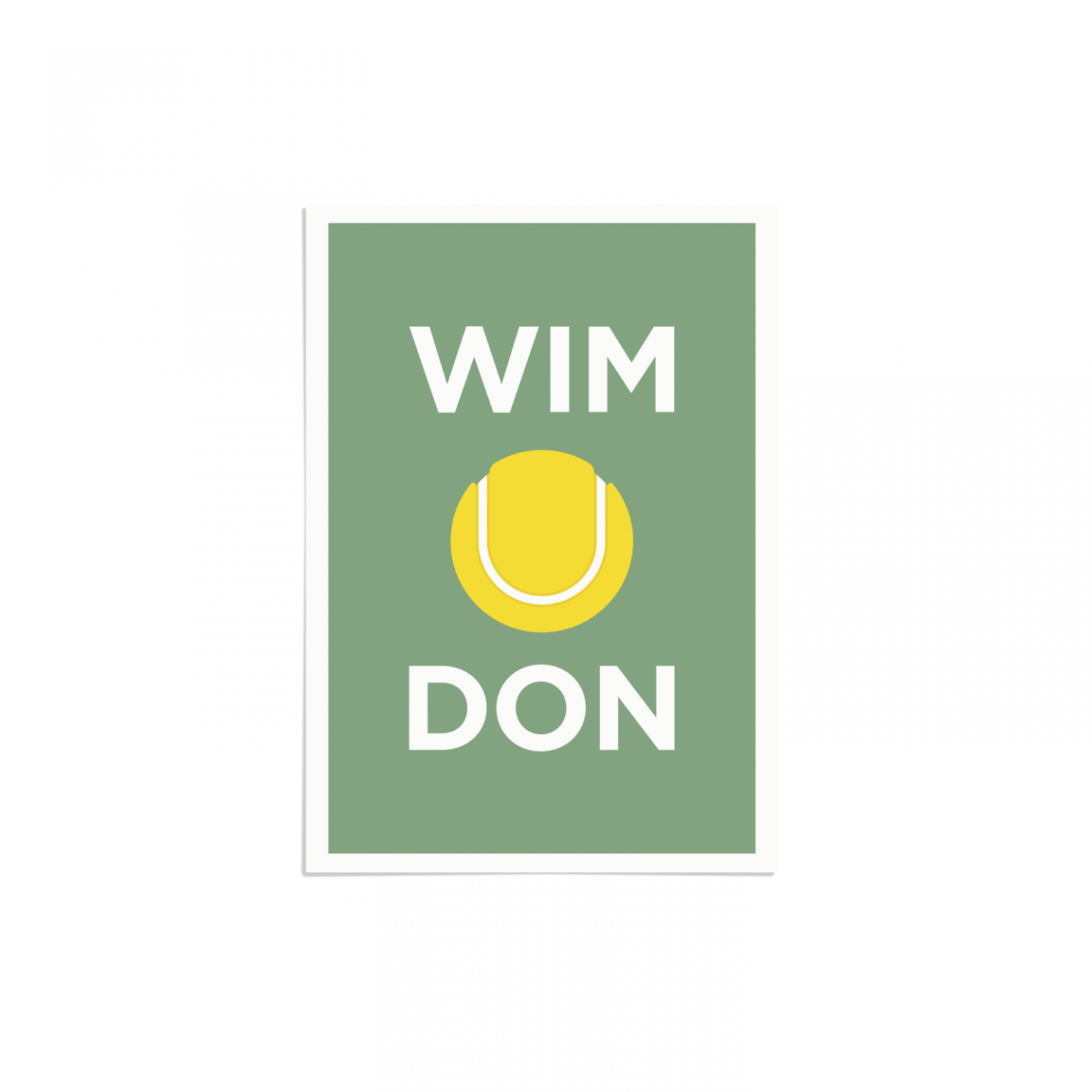 Pate Wimbledon Art Poster Print Local Pun Unframed