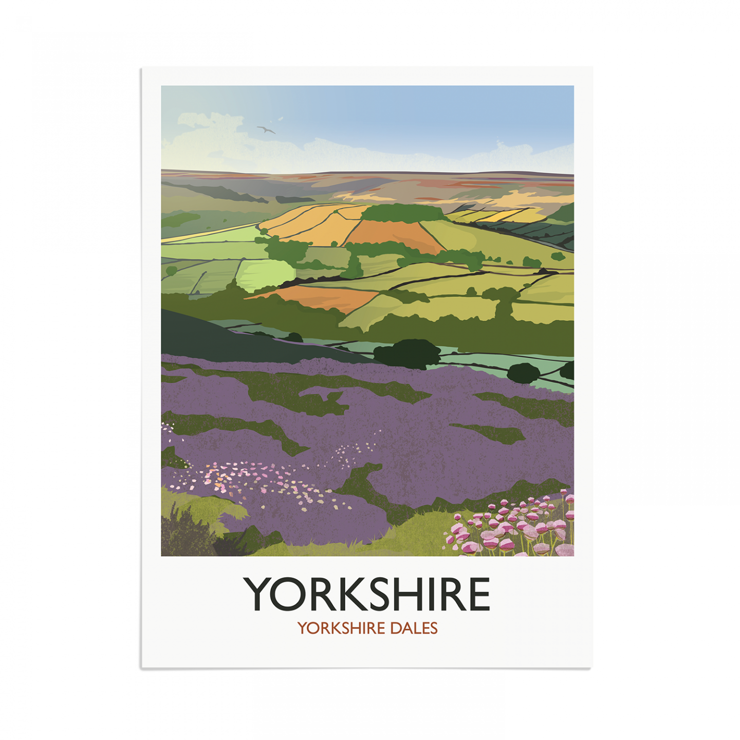 Place in Print Rick Smith Yorkshire Travel Poster Art Print 30x40cm Print-only