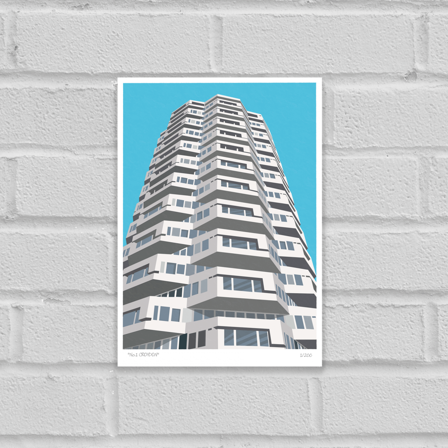 Place in Print No1 Croydon Art Poster Print Unframed